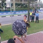 布什在新加坡受到的礼遇